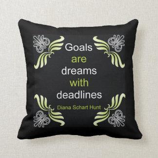 Goals Quote Pillow