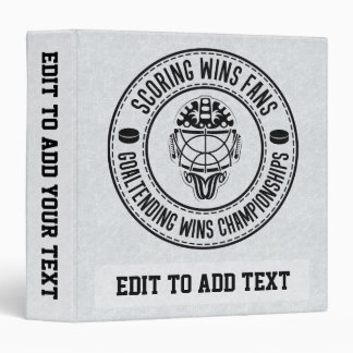 Goaltending Wins Championships Hockey Binder