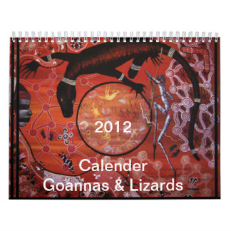 Goannas & Lizards 2012 Calender Calendars