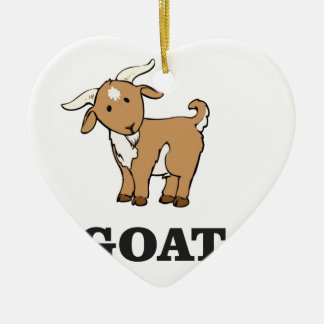 goat art cartoon ceramic ornament