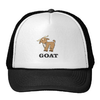 goat art cartoon trucker hat