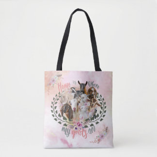 GOAT ART | Home is Where My Goats Are GetYerGoat Tote Bag