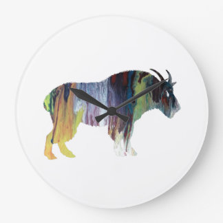 Goat Art Large Clock