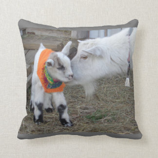 Goat Baby Kid with Sweater Barnyard Farm Animal Throw Pillow
