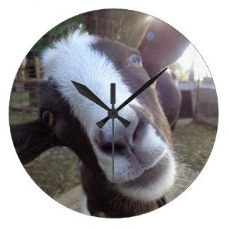 Goat Barnyard Farm Animal Clock