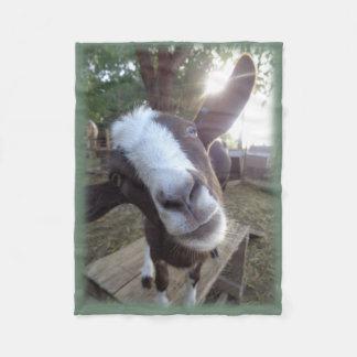 Goat Barnyard Farm Animal Fleece Blanket