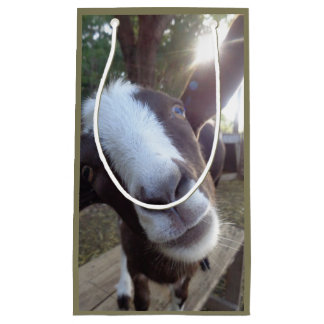 Goat Barnyard Farm Animal Small Gift Bag