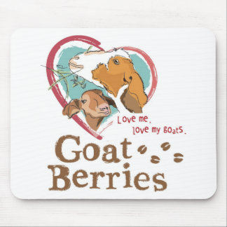 Goat Berries Mousepad