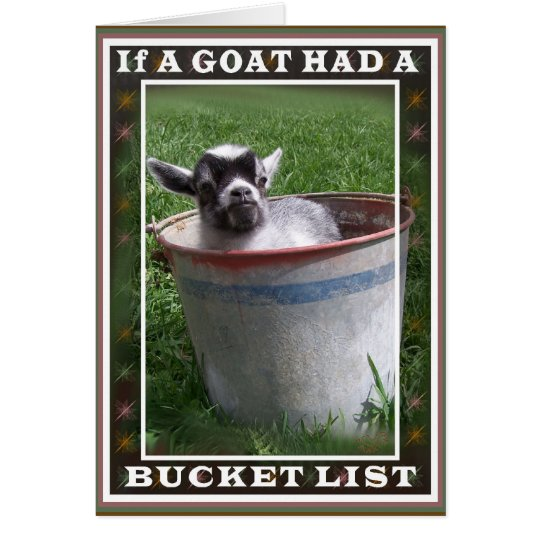 Goat Bucket List Card