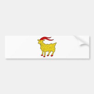 goat bumper sticker