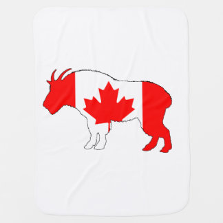 Goat Canada Baby Blanket