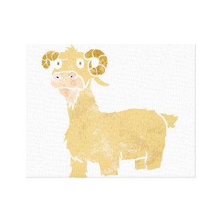 Goat cartoon. canvas print