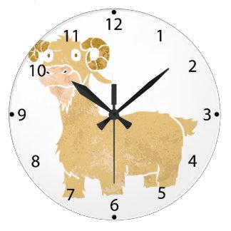 Goat cartoon. wallclocks