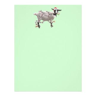 Goat Christmas Personalized Letterhead