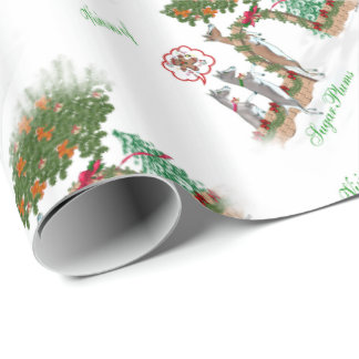 Goat Christmas Visions of Sugar Plums Wrapping pap Wrapping Paper