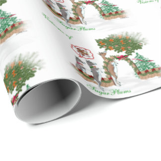 Goat Christmas Visions of Sugar Plums Wrapping Paper