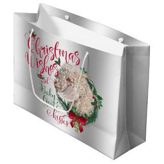 GOAT | Christmas Wishes Baby Goat Kisses Angora Large Gift Bag