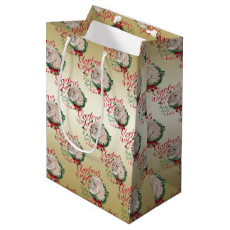 GOAT | Christmas Wishes Baby Goat Kisses Angora Medium Gift Bag