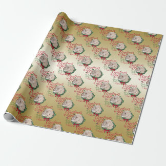GOAT   Christmas Wishes Baby Goat Kisses Angora Wrapping Paper