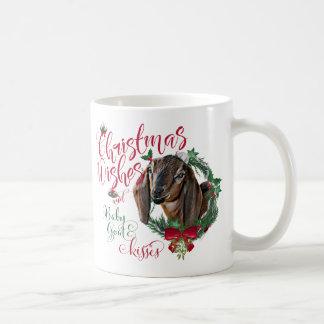 GOAT | Christmas Wishes Baby Goat Kisses Nubian 3 Coffee Mug