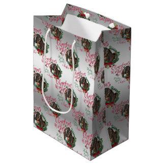 GOAT | Christmas Wishes Baby Goat Kisses Nubian 3 Medium Gift Bag