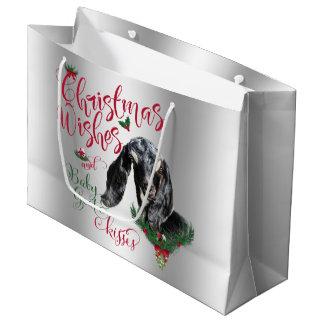 GOAT | Christmas Wishes Baby Goat Kisses Nubian Large Gift Bag