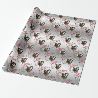 GOAT   Christmas Wishes Baby Goat Kisses Nubians Wrapping Paper