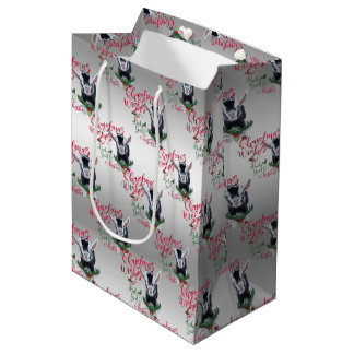 GOAT | Christmas Wishes Baby Goat Kisses Pygmy Medium Gift Bag