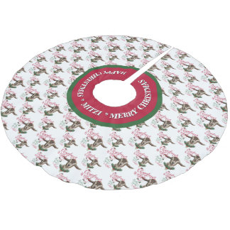 GOAT   Christmas Wishes Baby Goat Kisses Togg Brushed Polyester Tree Skirt