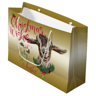 GOAT | Christmas Wishes Baby Goat Kisses Togg Large Gift Bag
