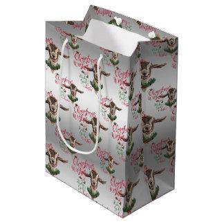 GOAT | Christmas Wishes Baby Goat Kisses Togg Medium Gift Bag