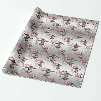 GOAT   Christmas Wishes Baby Goat Kisses Togg Wrapping Paper