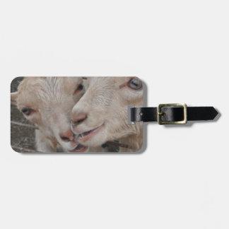 Goat Couple Bag Tag