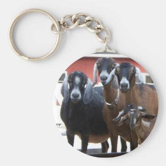 Goat Family Keychain
