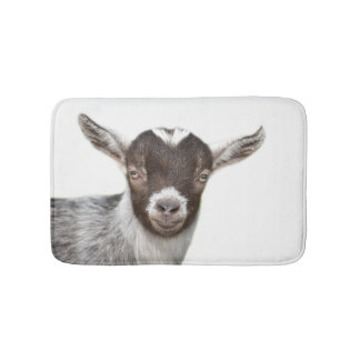 Goat farm animal cute puppy photo bathroom mat