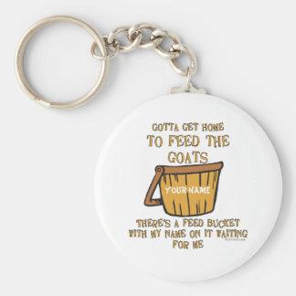 Goat Feed Bucket KeyChain
