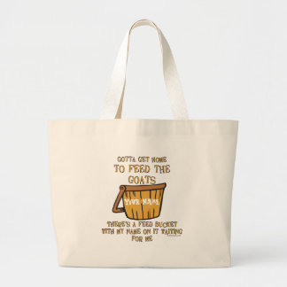 Goat Feed Bucket Tote Bag  Personalized