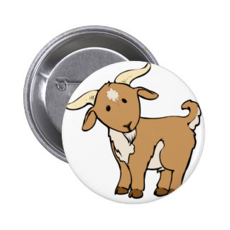 goat goatee 2 inch round button
