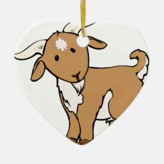 goat goatee ceramic ornament