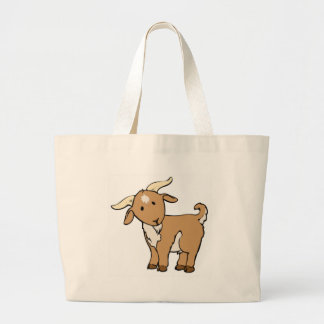 goat goatee large tote bag