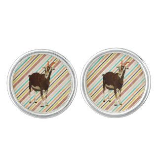 Goat Grunge Stripes Cuff Links Cufflinks