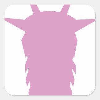 Goat Head Square Sticker