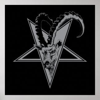 Goat in a Pentagram Poster