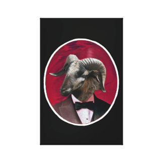 Goat in Tux Canvas Print