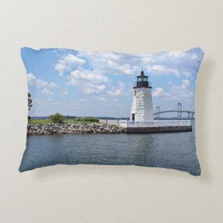 Goat Island Lighthouse, Rhode Island Accent Pillow