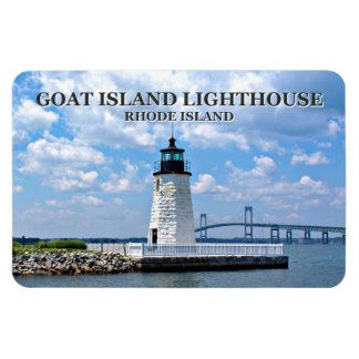 Goat Island Lighthouse, Rhode Island Flexi Magnet
