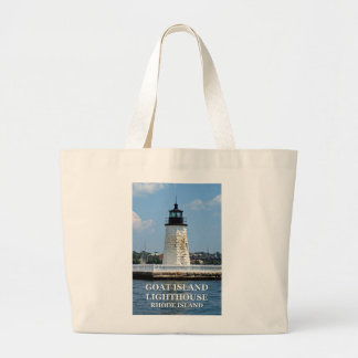 Goat Island Lighthouse, Rhode Island Large Tote Bag