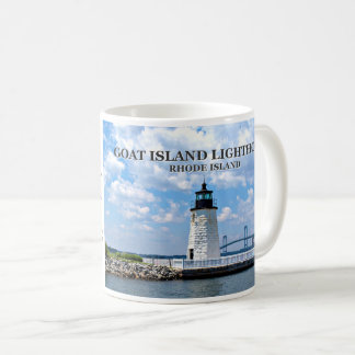 Goat Island Lighthouse, Rhode Island Mug