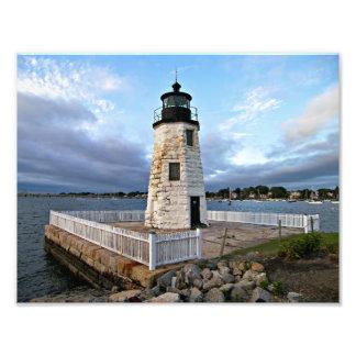 Goat Island Lighthouse, Rhode Island Photo Print
