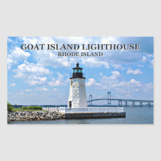Goat Island Lighthouse, Rhode Island Stickers